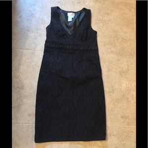 🎄Max Studio black sleeveless patterned dress🌺